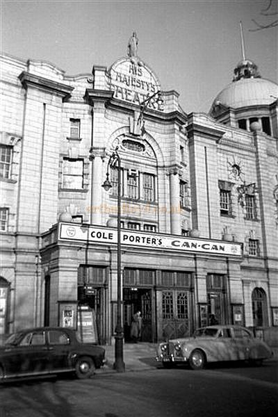 His Majestys Theatre, Aberdeen during the run of Can-Can on the 30th of January 1956 - Courtesy Gerry Atkins