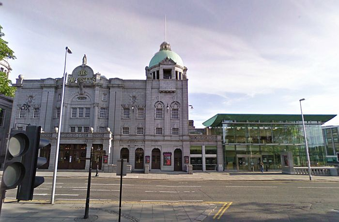 A Google StreetView Image of His Majesty's Theatre, Aberdeen today - Click to Interact