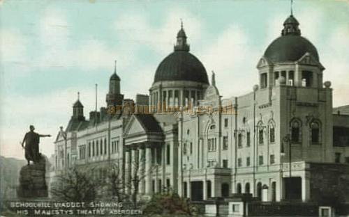 His Majesty's Theatre, Aberdeen from a postcard sent in 1907.