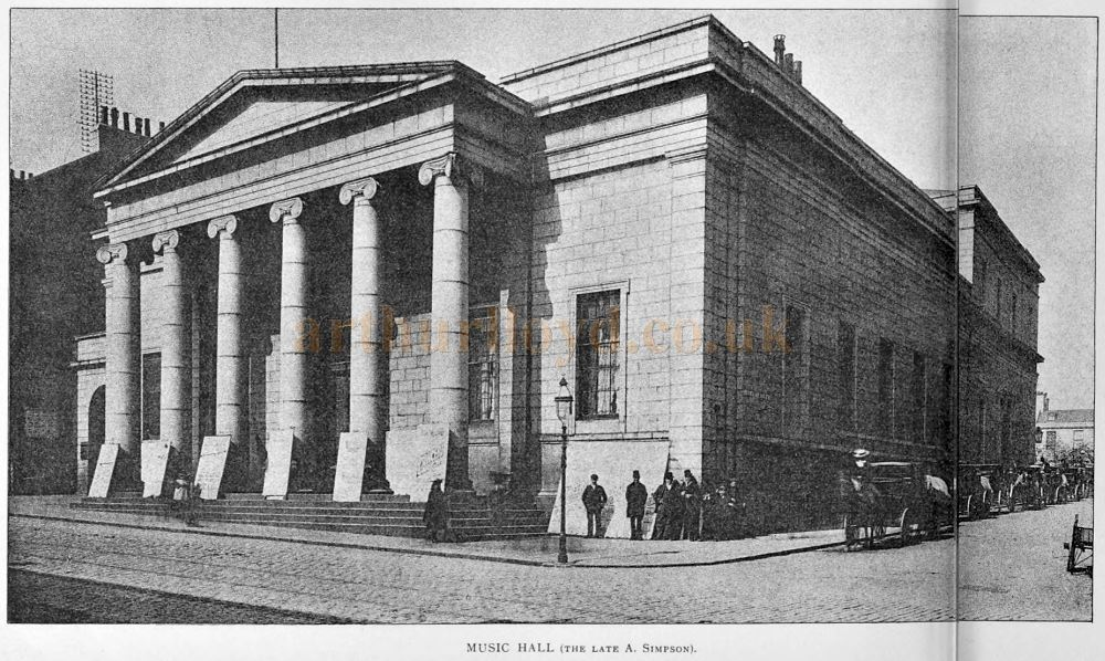 The Music Hall, Union Street, Aberdeen - From The Builder, 14th of May 1898.