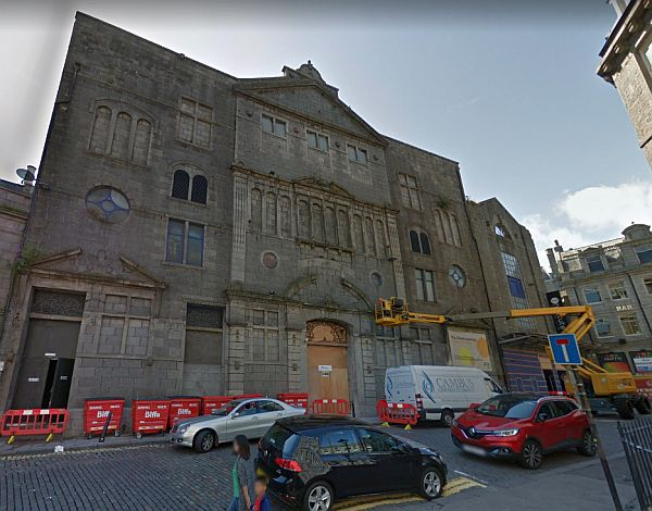 A Google StreetView Image of the former Palace Theatre, Aberdeen - Click to Interact.