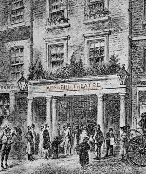The first Adelphi Theatre, London - From 'The Playgoer' 1901 - Courtesy Iain Wotherspoon.