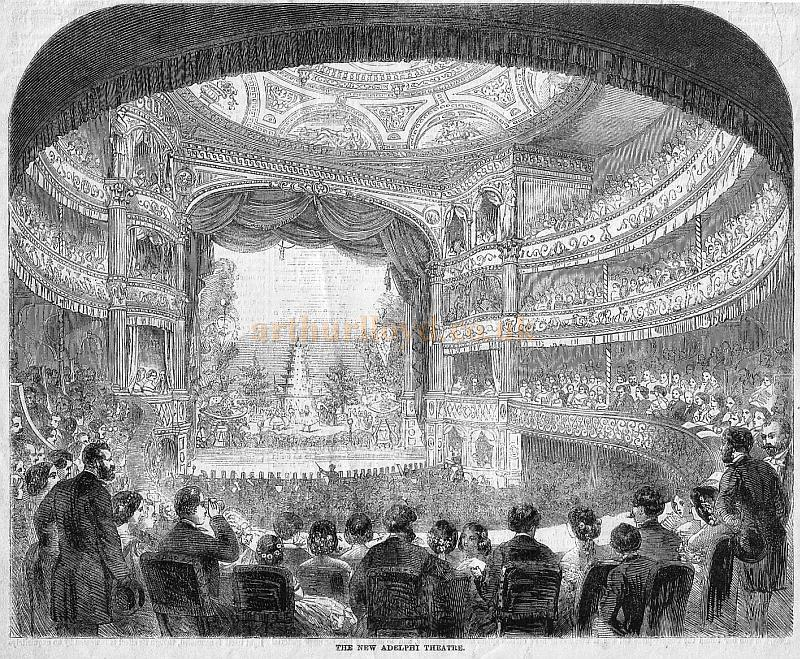 The second Adelphi Theatre's Auditorium - From the 'Illustrated Times' January 1st 1859.