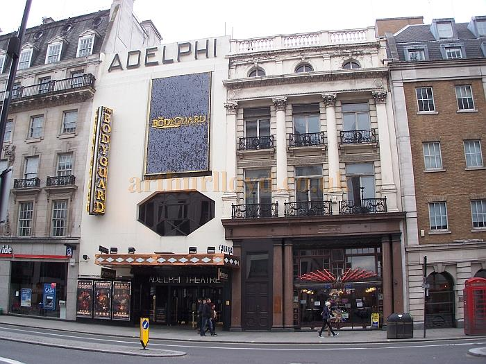 The Adelphi Theatre in March 2013 during the run of 'Bodyguard' - Photo M.L.