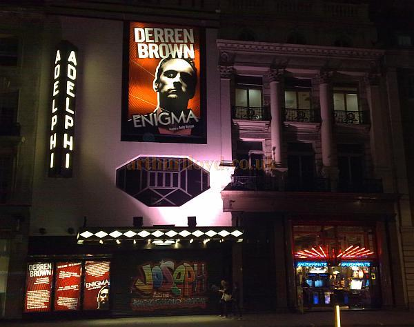 The Adelphi Theatre during production for Derren Brown's 'Enigma,' in June 2009