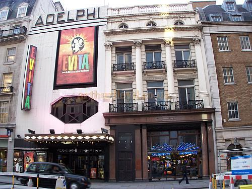 The Adelphi Theatre during the run of Andrew Lloyd Webber's production of 'Evita' in October 2006 - Photo M.L.