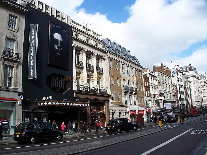 The Adelphi Theatre in February 2010 during previews for the Andrew Lloyd Webber musical 'Love Never Dies'  - Photo M.L.