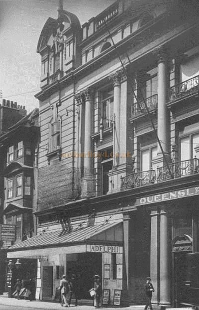 A postcard depicting the second Adelphi Theatre.