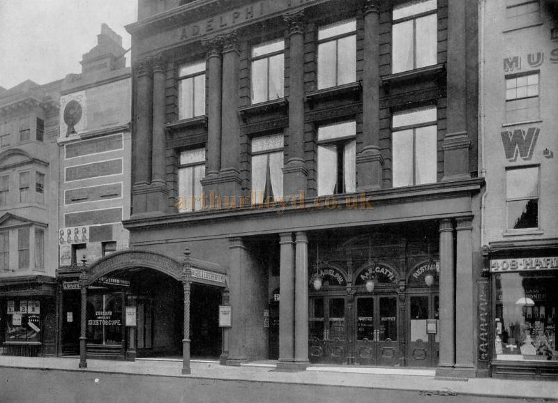 The Entrance to the Second Adelphi Theatre - From a photograph by Alfred Ellis, Upper Baker Street