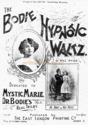 The Bodie Hypnotic Waltz, a Dr Bodie music sheet with his sister as the pianist - Courtesy Graeme Smith.