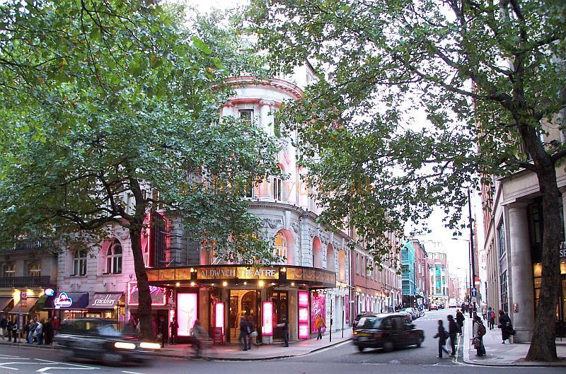 The Aldwych Theatre whilst in production for the musical 'Dirty Dancing' in October 2006. - Photo M.L.