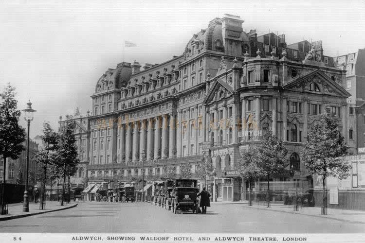 The Aldwych and Waldorf Theatres, and the Waldorf Hotel - From an early postcard.