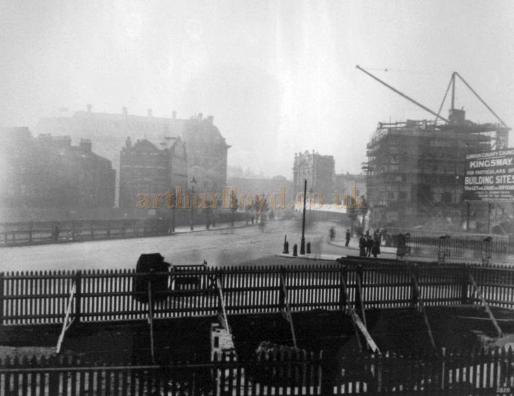 The Aldwych Theatre under construction in 1905.