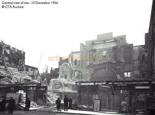 The Alhambra Theatre, Leicester Square, during its demolition in 1936