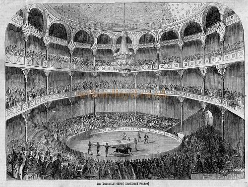 The Alhambra Theatre Auditorium from the Illustrated London News April 24th 1858