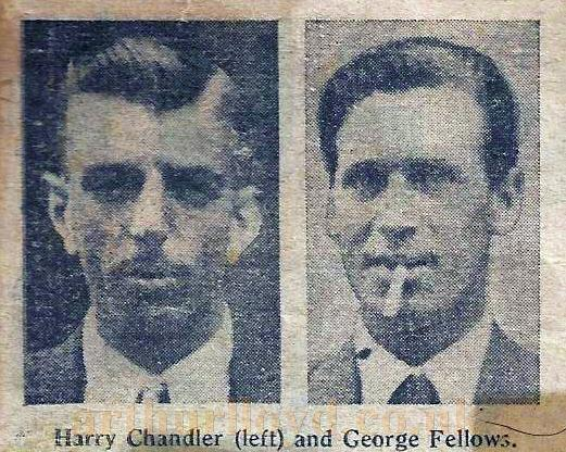 Harry Chandler and George Fellows - Courtesy Andrea Taylor (nee Fellows) whose grandfather was George Fellows.