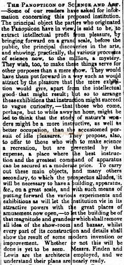 Another article on the proposed Panopticon - From 'The Builder' Vol 8, 1850