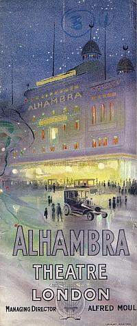 Variety Programme for the Alhambra Theatre December 26th 1911 - Courtesy John Moffatt.