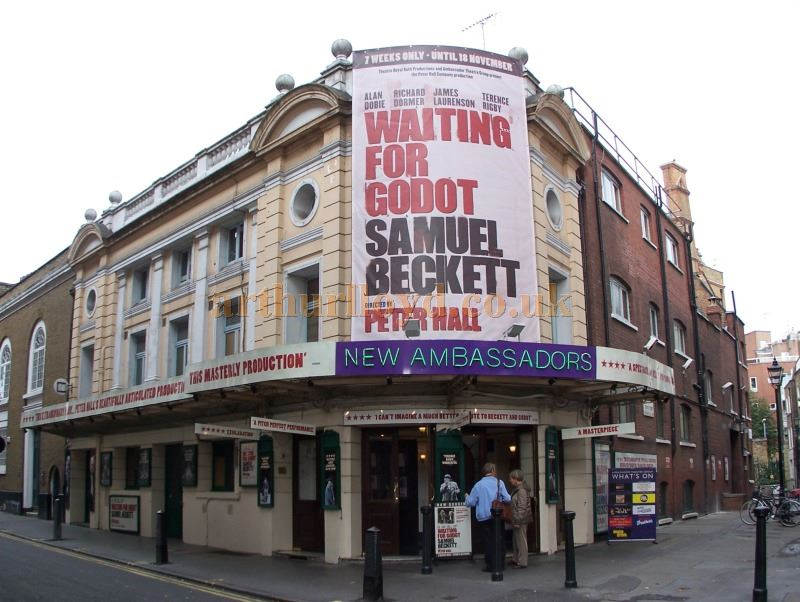 The Ambassadors Theatre during the run of 'Waiting For Godot' in October 2006 - Photo M.L.