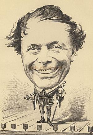 Horatio Lloyd - Image from an article in The Bailie, 1876, - Courtesy James Francis.