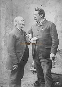 Richard Delarue Lloyd and his father Horatio in 1889, the year Horatio died - Courtesy James Francis and Robert Cunningham. Click to enlarge.