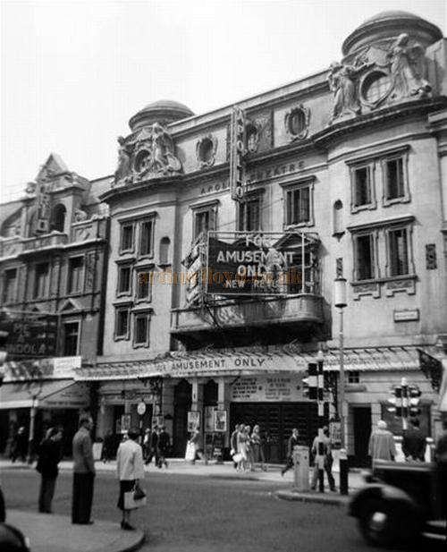 The Apollo Theatre during the run of the Revue 'For Amusement Only' - in 1958 - Courtesy Gerry Atkins