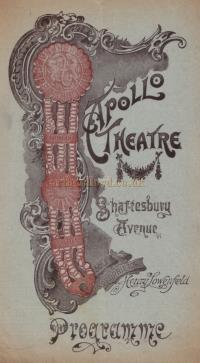 A Programme for 'Mr. Popple' at the Apollo Theatre circa 1905 - Click for cast details.