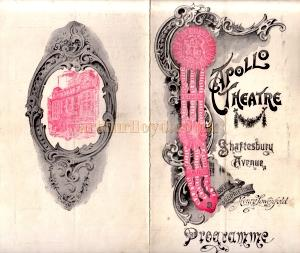 A programme for 'Veronique' at the Apollo Theatre in 1903 - Click for cast details.