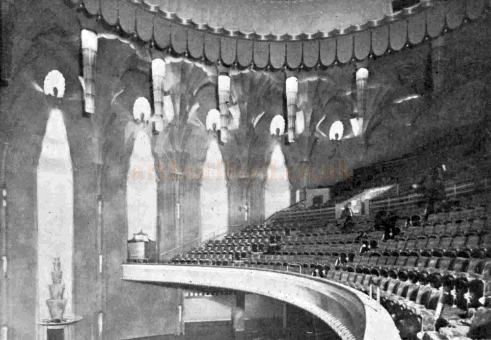 The Auditorium of the New Victoria Theatre when it first opened - From The Bioscope, 22nd October 1930.