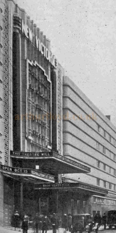 The New Victoria Theatre on its opening in October 1930 - From The Bioscope, 22nd October 1930.