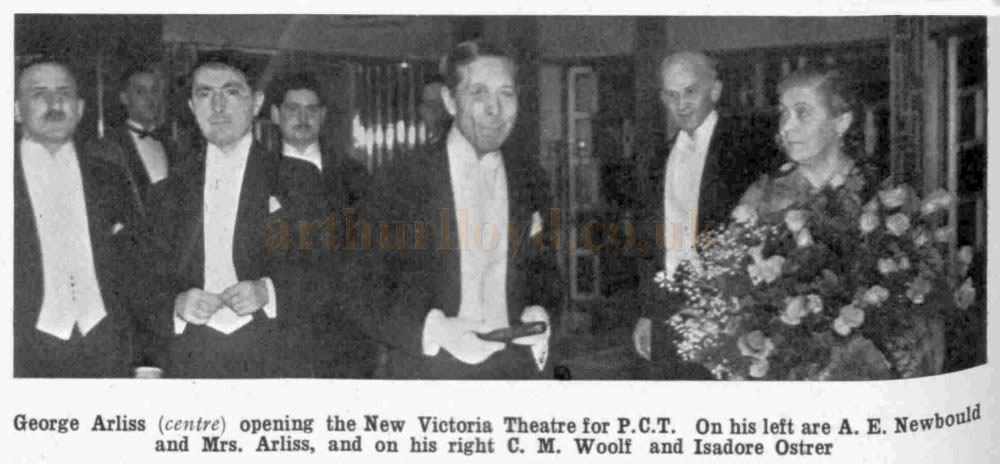 George Arliss opening the New Victoria Theatre for P.C.T. - From The Bioscope, 22nd October 1930.