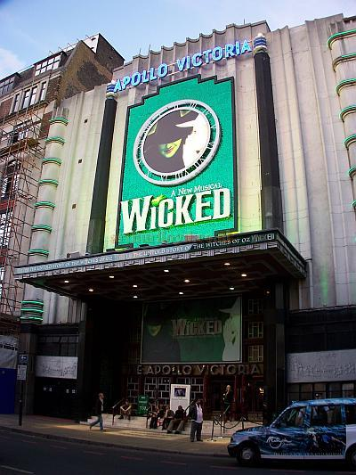 The Apollo Victoria during the run of 'Wicked' in October 2006. Photo M.L.