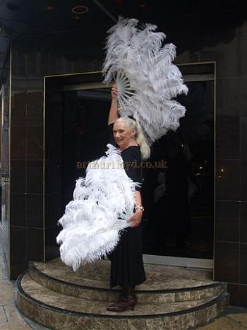Former Windmill Girl, Jill Millard, poses outside the Windmill Theatre in  2009