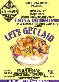 A poster for Paul Raymond's 'Let's Get Laid' at the Windmill Theatre - Courtesy Stephen Andrew.