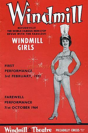 On the 31st of October 1964 the Windmill Theatre shut its doors on Revudeville for the last time. Click here to see the last night programme.