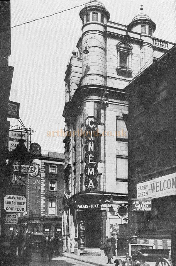The Palais de Luxe Cinema, Windmill Street, in 1923 - From 'Picture Play Magazine' November 1923.