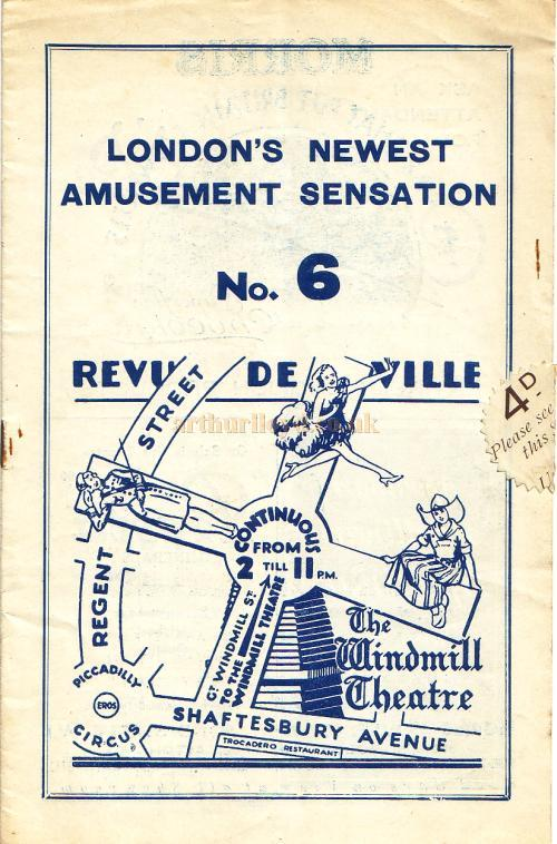 An Early Revudeville programme (No.6) 9th of May 1932, just 3 ...