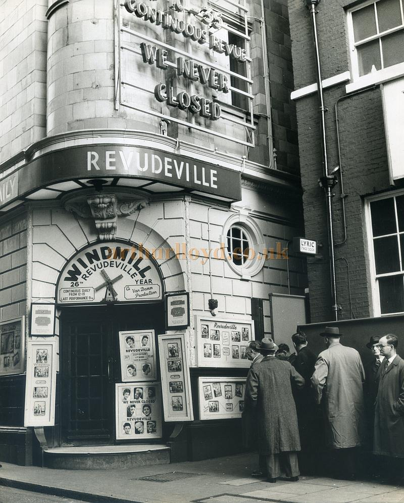 The Windmill Theatre during its Revudeville period in 1957 - Courtesy Maurice Poole