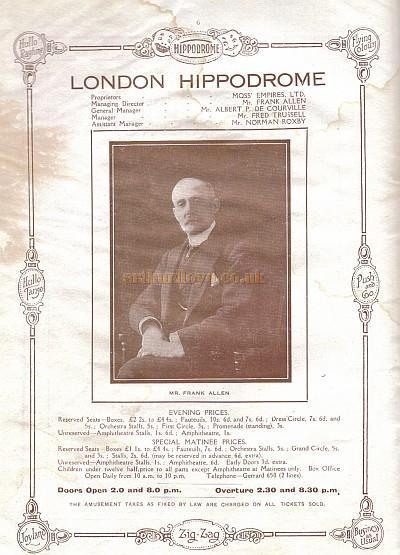 sc 1 st  Arthur Lloyd & London Hippodrome Programme - Zig Zag 1917