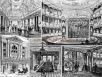 Images of the Empire Theatre - From the Illustrated London News, April 1884 - Courtesy Alfred Mason. - Click to enlarge.