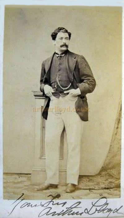 A Very Rare And Early 1860s Signed Carte De Visite CDV Card Of Arthur