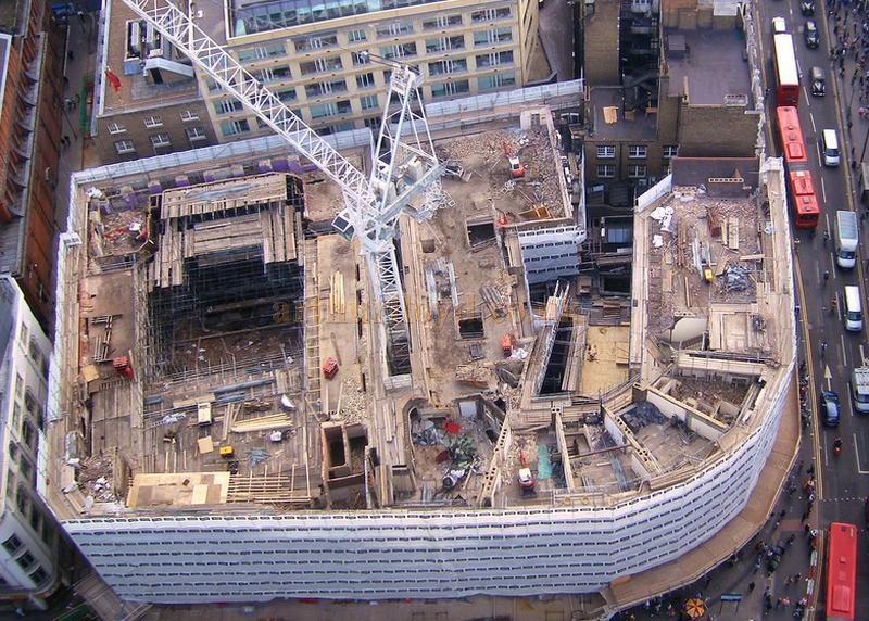 The Astoria Theatre being demolished in a photograph taken from the 32nd floor of Centrepoint in July 2009 - Photograph courtesy Andrew Woodyatt