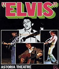 A Programme for 'Elvis' at the Astoria Theatre in 1978.