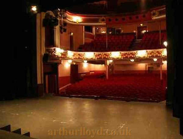 The auditorium of the Gaiety Theatre, Ayr in a photograph by the late Paul Iles - Courtesy Graeme Smith