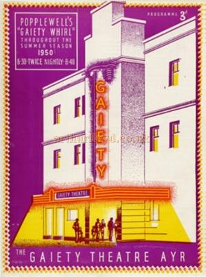 A programme for the 'Gaiety Whirl' at the Gaiety Theatre, Ayr in 1950 - Courtesy Graeme Smith.