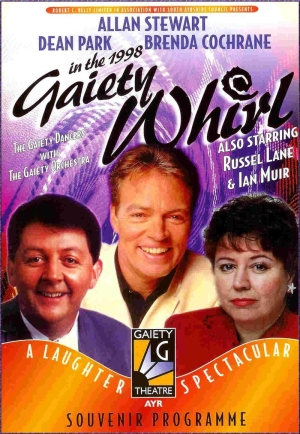 A programme for the 'Gaiety Whirl' at the Gaiety Theatre, Ayr in 1998 - Courtesy Graeme Smith.