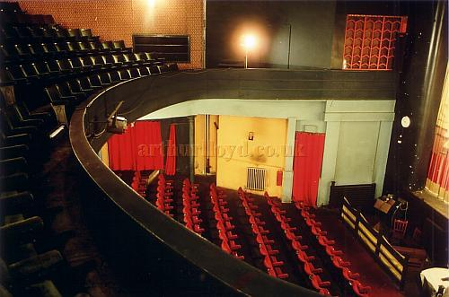 The auditorium of the Empire / Royal Court Theatre, Bacup in 1980 - Courtesy Ted Bottle.
