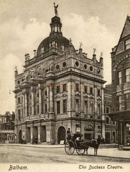 The Duchess Theatre during the production of 'Worst Woman in London' - From a period postcard - Courtesy Jennie Walton