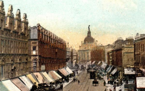 Detail from the Colour Postcard of Balham High Street, showing the Duchess Theatre - Courtesy Kevin Phelan
