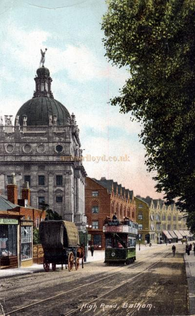 A Colour Postcard of the High Road, Balham with the Duchess Theatre to the left - Courtesy Kevin Phelan who has other images of Balham Theatres and Cinemas on his Flickr page here.